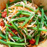 Jicama and green bean salad