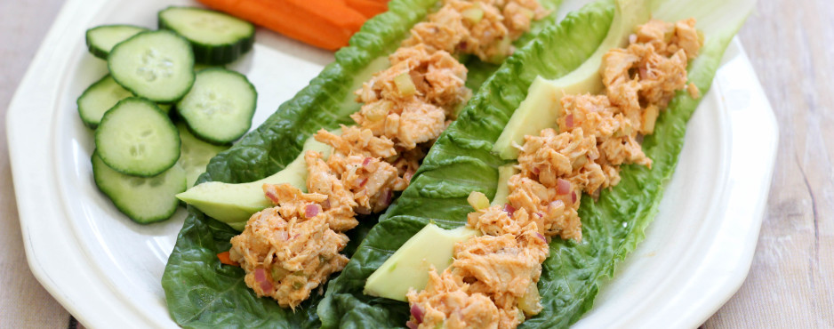 Buffalo Chicken Salad Lettuce Wrap